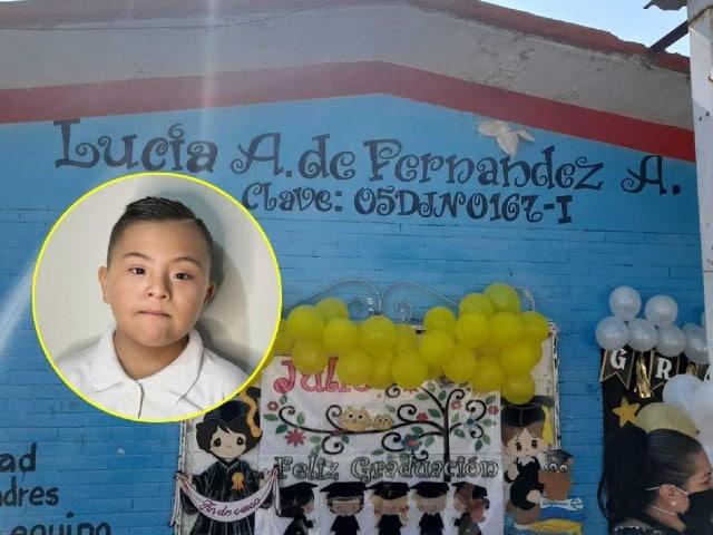 Coahuilenses organizan fiesta de graduación a niño con síndrome de Down
