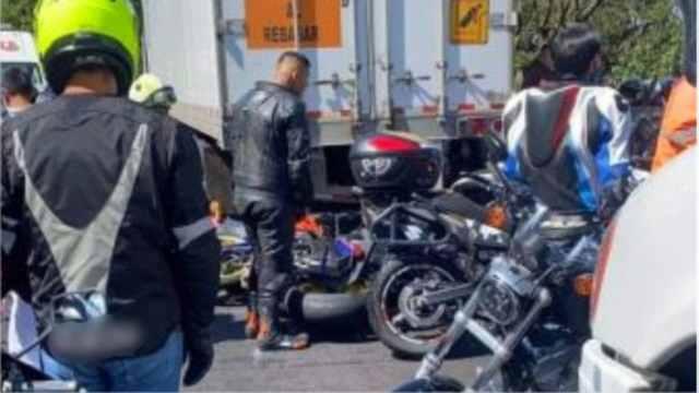 captan fantasma en el accidente de motociclistas de la México Cuernavaca