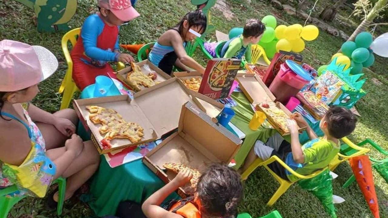 Pizzassaurios en Tucatán para fiestas de niños