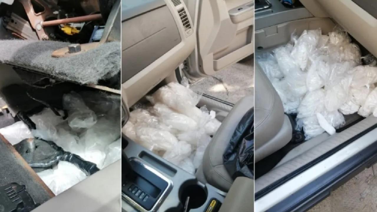 Decomisaron auto con 30 kilos cristal