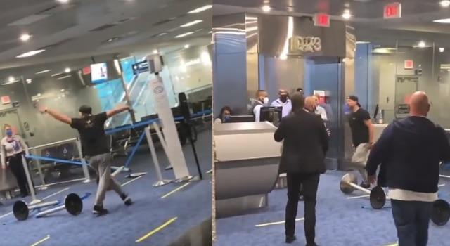 Hombre enfureció en aeropuerto no usaba cubrebocas