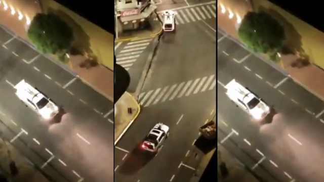 Ladrones ataron rehenes en el techo de un automóvil