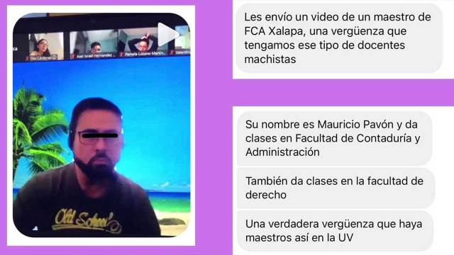 Maestro misogino homofobo Universidad Veracruzana