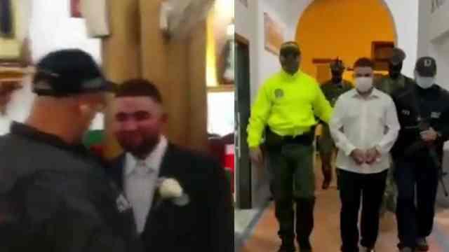 Detienen a capo del narco en la iglesia cuando estaba por casarse