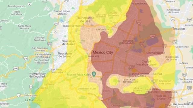 crean mapa de zonificación sísmica de la CDMX