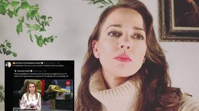 """Laisha Wilkins critica la violencia en México; """"en 'Pejelandia', todo bien"""", dice"""