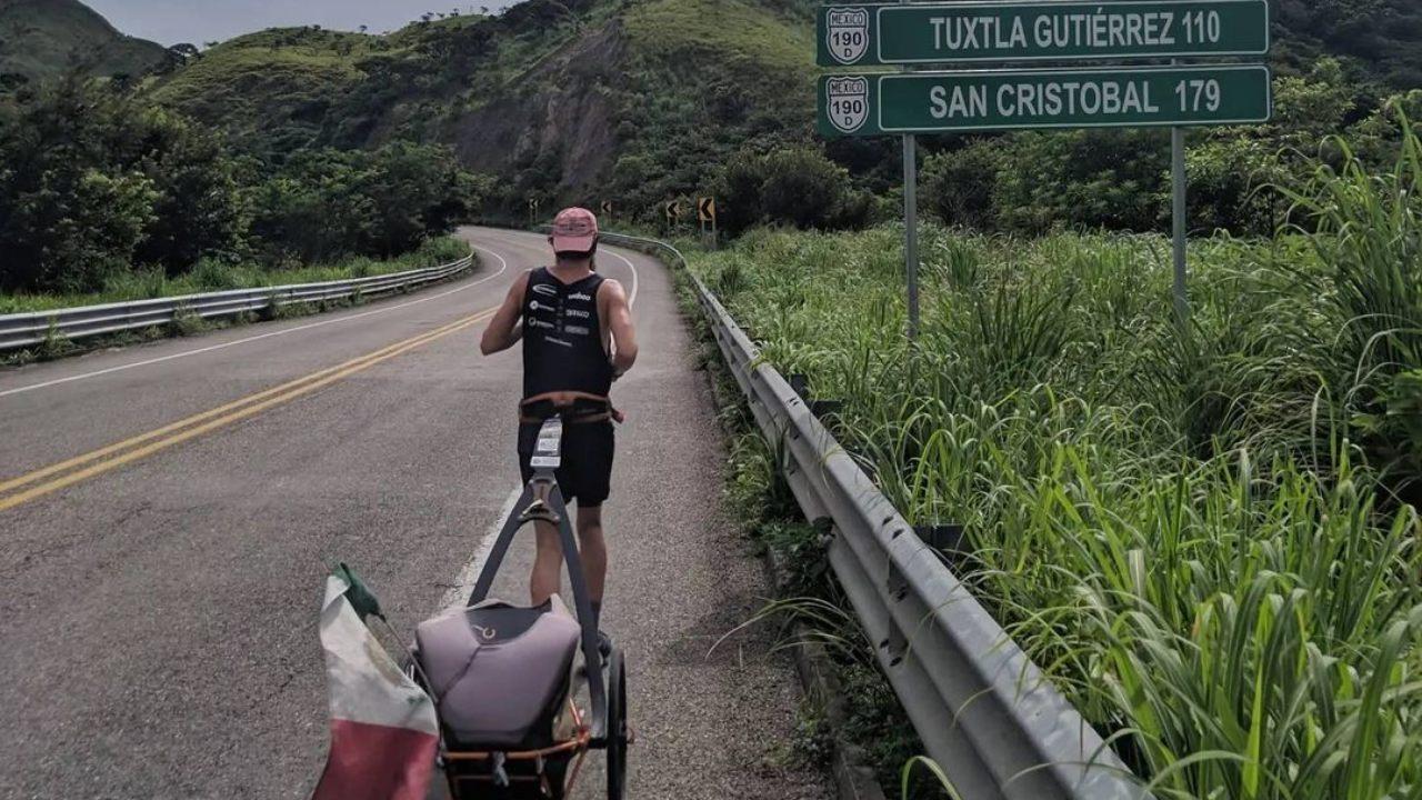 Jonas Deichman el Ferrest Gump alemán llega a Campeche