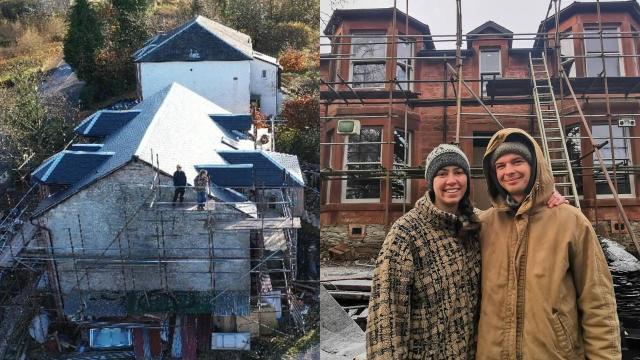 pareja compra propiedad en ruinas por error