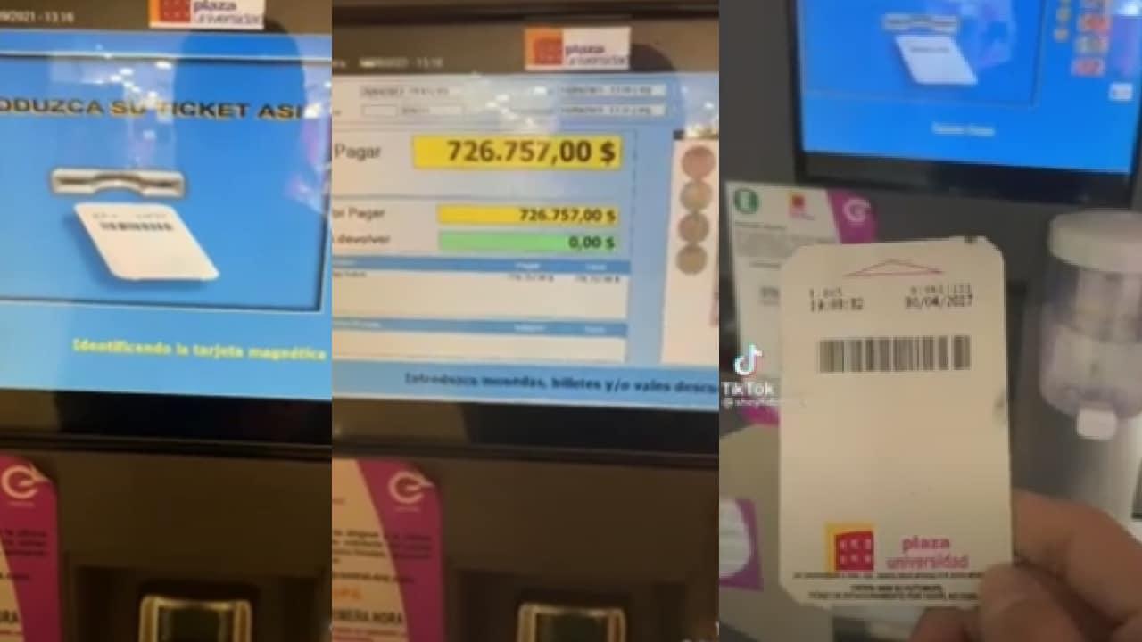 Tiktoker intentó pagar boleto de estacionamiento 2017