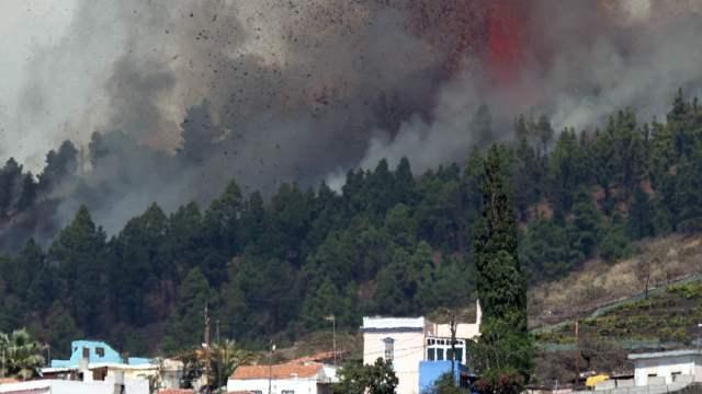 Entra en erupción el volcán en La Palma