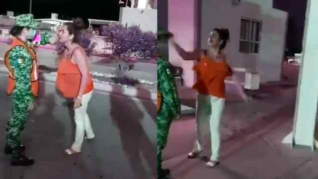 VIDEO: Mujer insulta y cachetea a elemento de la Guardia Nacional. La someten