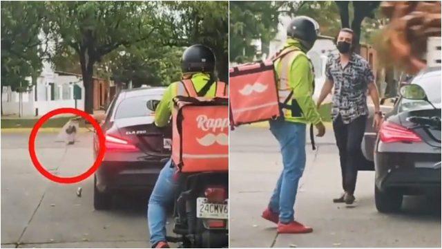 repartidor de comida basura conductor
