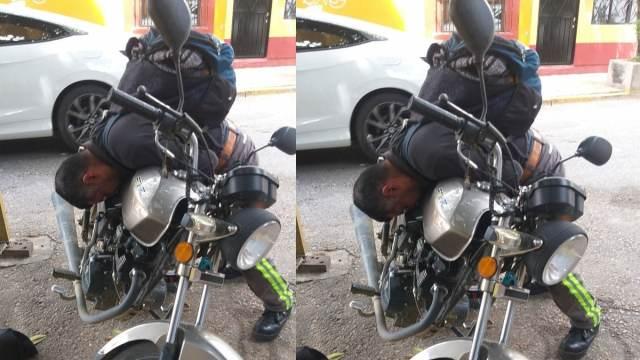 Reportan Hombre Muerto Moto Borracho Oaxaca
