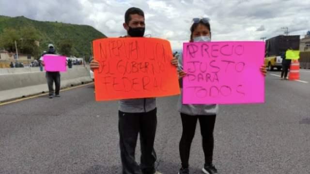 Manifestantes Bloquean Autopista Edomex Cierre Tortillería