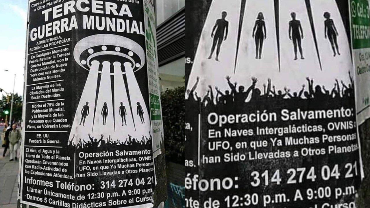 cartel anuncia curso para enfrentar el fin del mundo