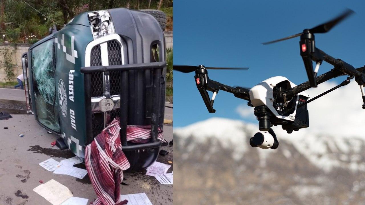 """Habitantes de Veracruz agreden policías y derriban drones por """"esparcir el Covid"""""""