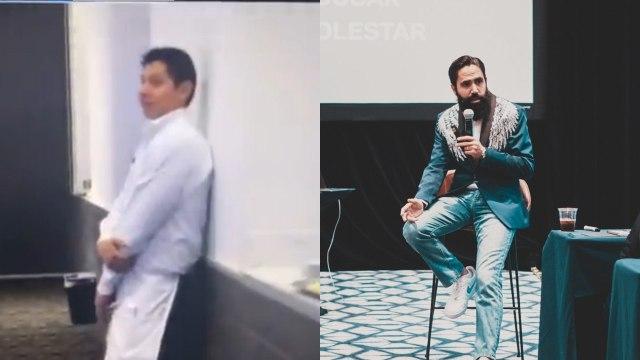 """Video: """"No tiene el hambre"""", humilla Carlos Muñoz a mesero; lo critican en redes"""