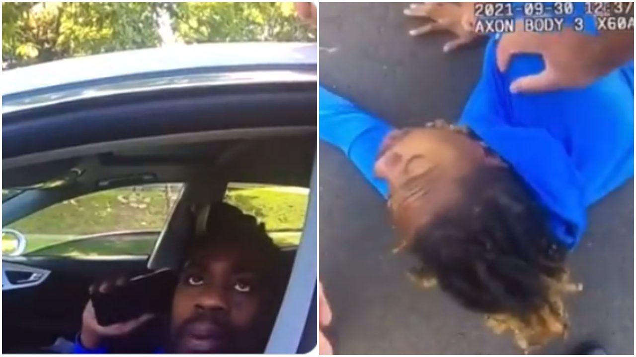 policía baja a golpes a u hombre parapléjico de su auto
