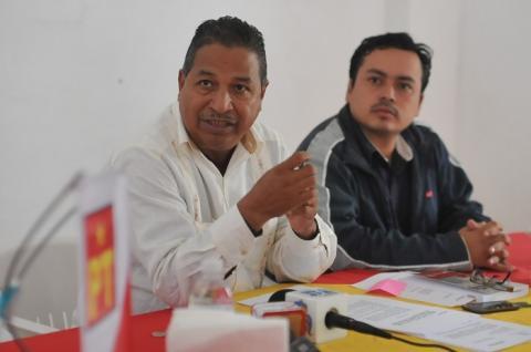 El gobierno estatal usa infraestructura y recursos públicos para apoyar al candidato del PRI por Cosoleacaque denuncia PT