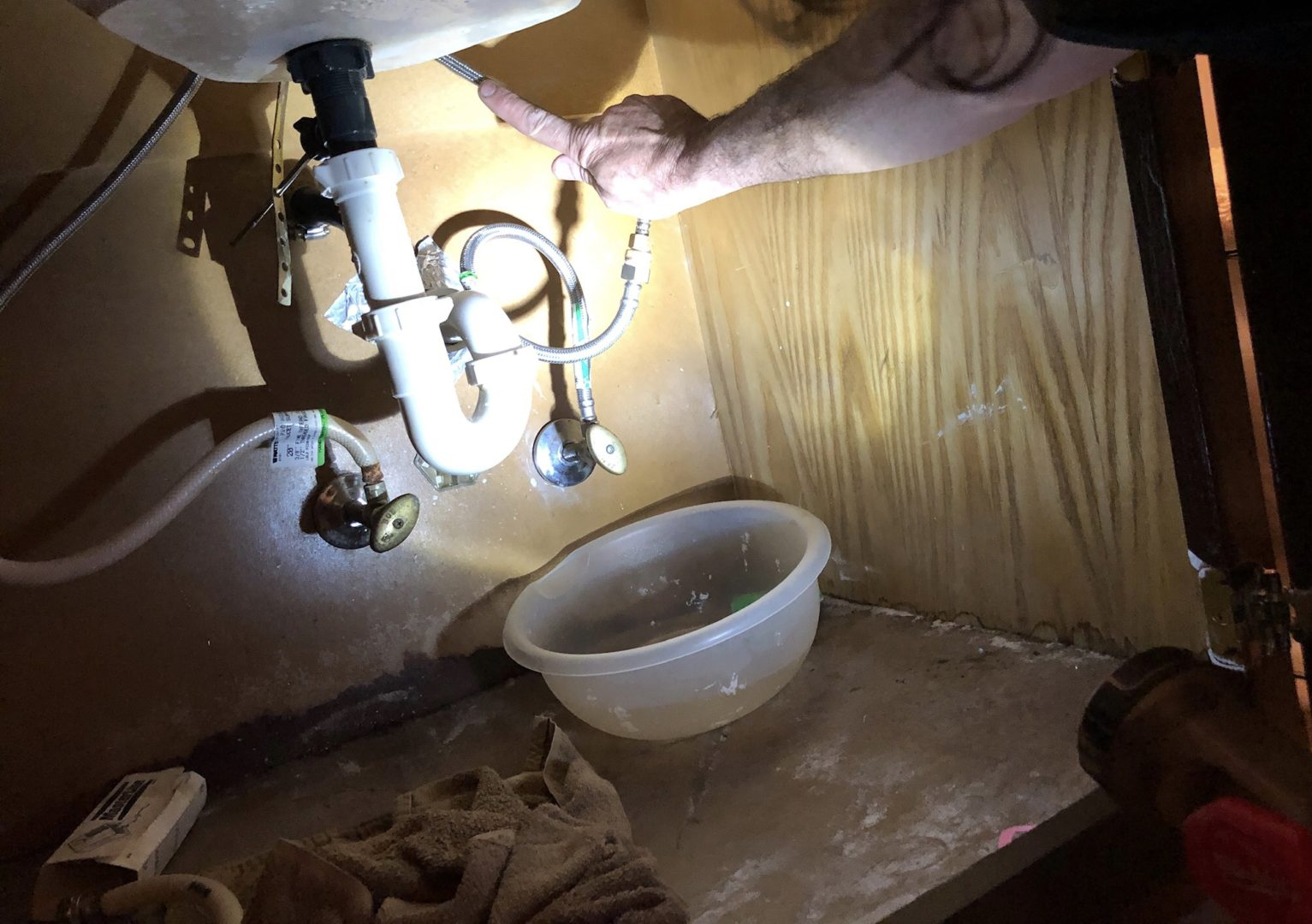 how to avoid water damage from a faucet