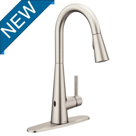moen sleek motionsense wave kitchen faucet spot resist stainless