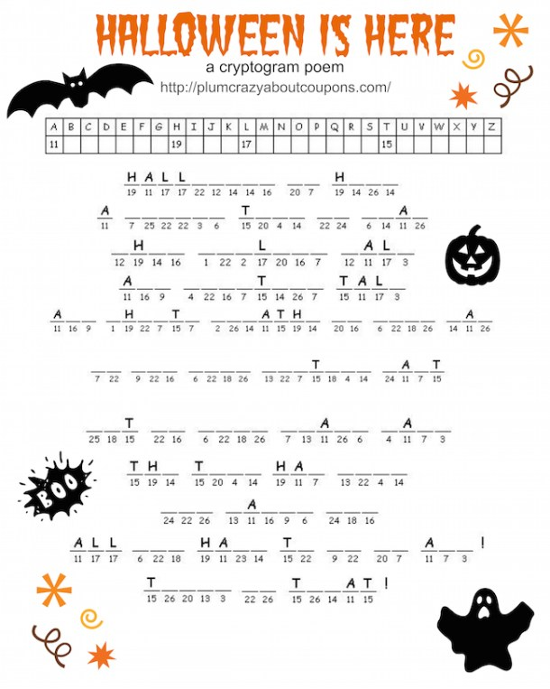 Free Printable Halloween Games | Just Plum Crazy