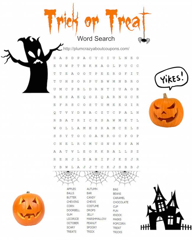 Free Printable Halloween Games   Just Plum Crazy