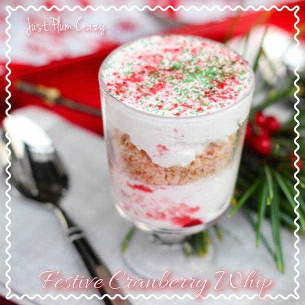 This Festive Cranberry Whip recipe is perfect for those that love cranberries. Also the perfect recipe for when you have that leftover cranberry sauce.