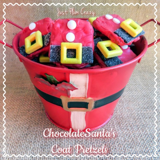 These Chocolate Santa's Coat Pretzels recipe are just the cutest things. They are easy to make and take less than a half hour to make.