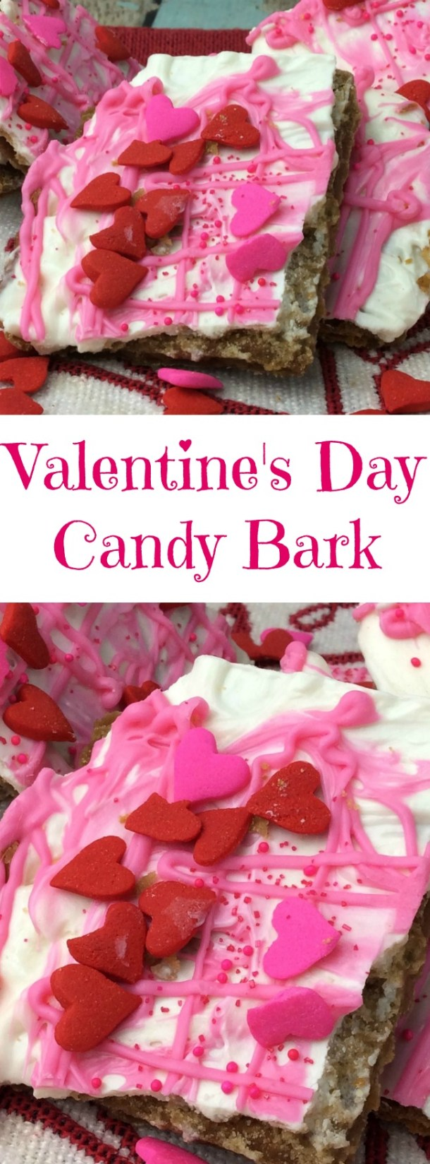 The Valentine's Day Candy Bark recipe is one of the easiest recipes that I have done in a while. It's fun to make, the kids can help and it's yummy.