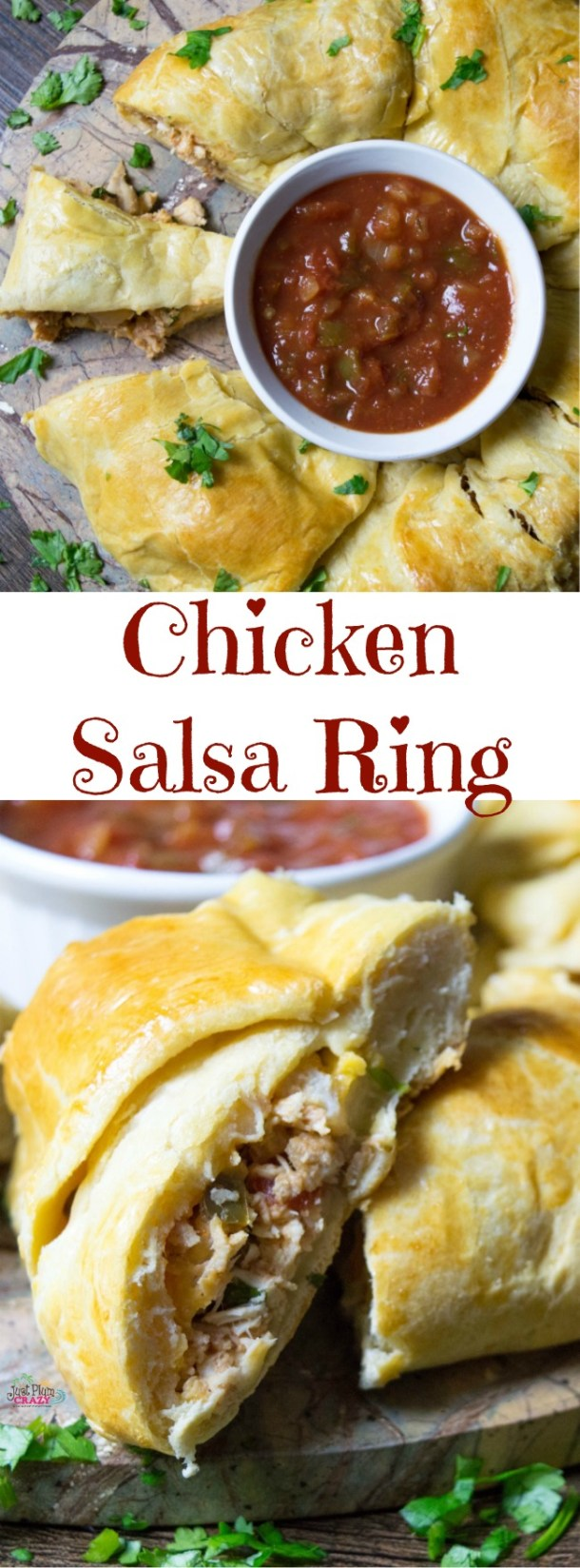 Another perfect recipe for your game day party is the Chicken Salsa Ring Recipe where you can easily substitute rotisserie chicken for the cooked chicken.