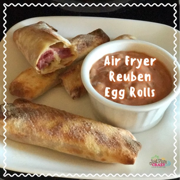 Air Fryer Reuben Egg Rolls Recipe for St. Patrick's Day