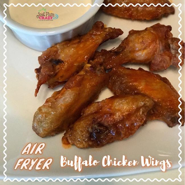 Air Fryer Buffalo Style Skinny Chicken Wings Recipe WW SP 6 #AirFryer #WeightWatchers