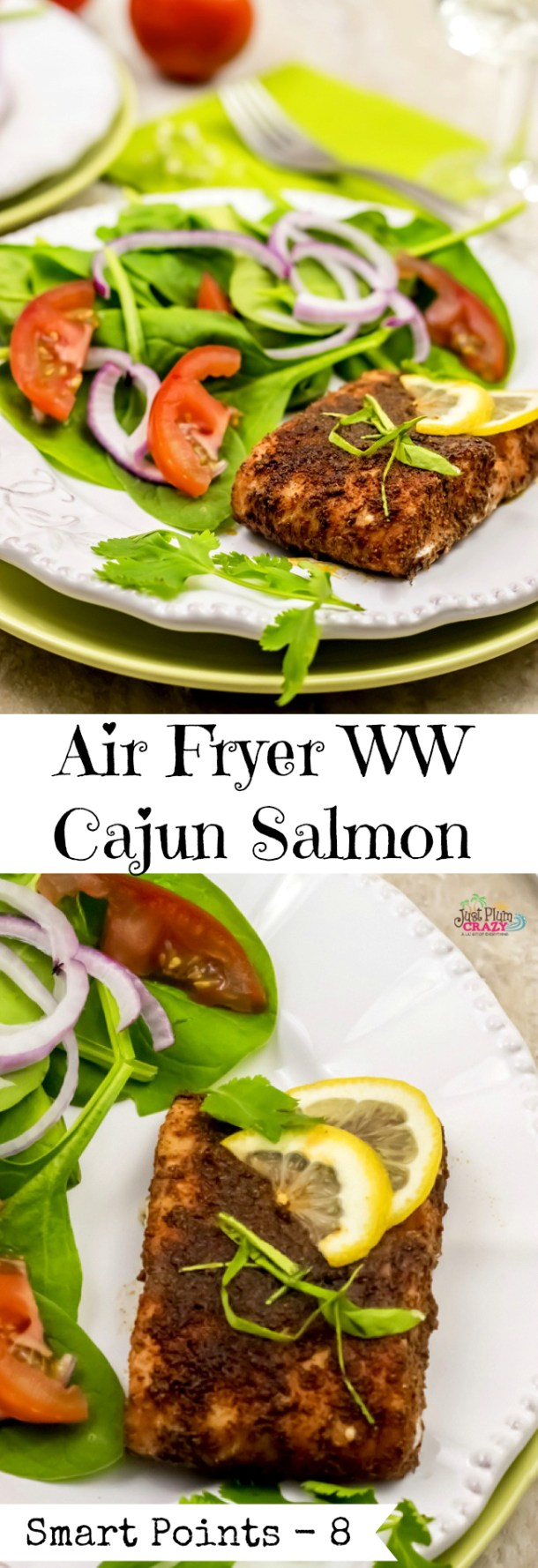 We are going to shake things up a little with a seafood recipe this time, an Air Fryer WW Cajun Salmon recipe with only 8 Smart Points.