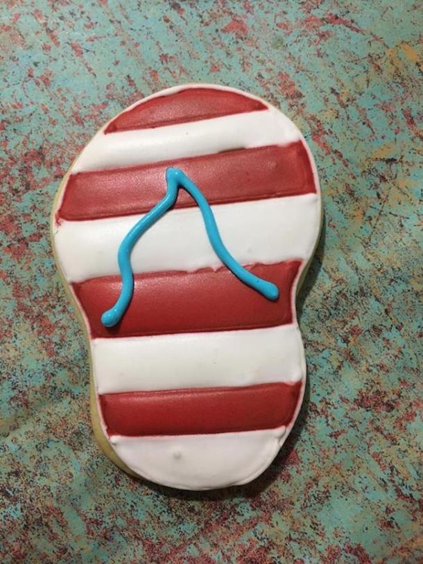 In honor of National Flip Flop Day, we are sharing some Patriotic Flip Flop Cookies recipe. How cool are these? Stay tuned for more Patriotic recipes.