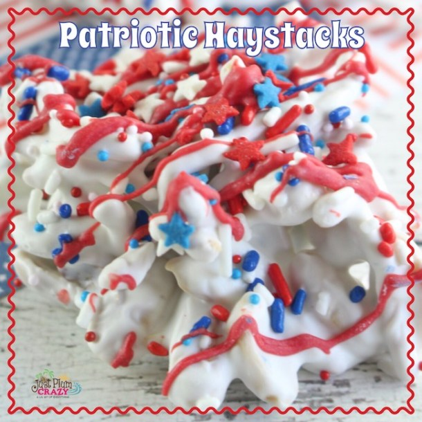 Who would have thought that you could make something so cute and easy with things in your pantry. The Patriotic Haystacks recipe is easy yet festive.