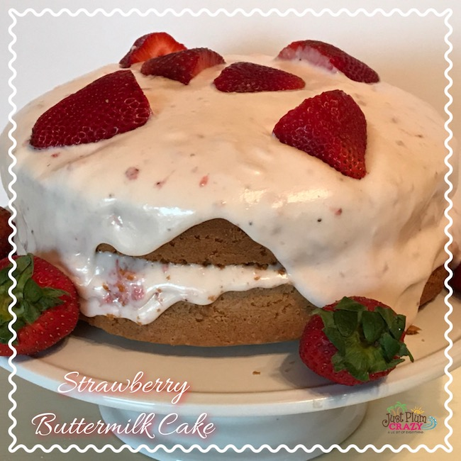 Strawberry Buttermilk Cake Recipe – Celebrate Strawberry Season with In The Raw(r) Sweeteners #InTheRaw #ad