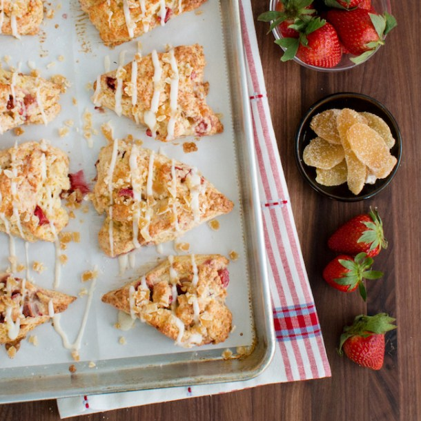 Strawberry Rhubarb Drop Scones A Recipe: Strawberry Buttermilk Cake With In The Raw Sweeteners
