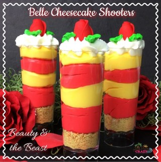 Beauty and The Beast Belle Cheesecake Shooters Recipe #BeOurGuest