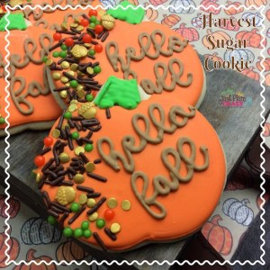 The great thing about these harvest Pumpkin Sugar Cookie Recipe is that it just has pumpkin in it's name not in the recipe.