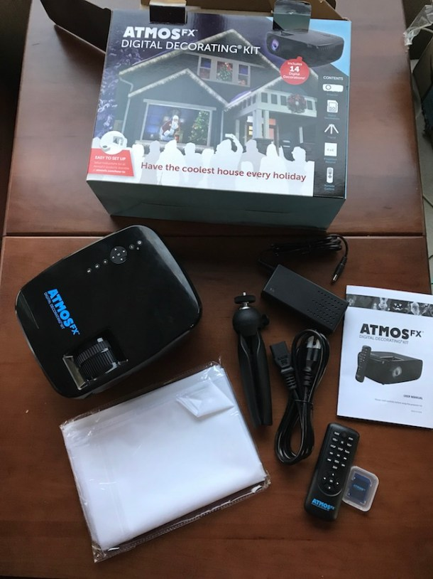 Take holiday outdoor decorating up a notch with the AtmosFX Digital Holiday Decorations Kit! I have found a fun new way to make our home stand out!