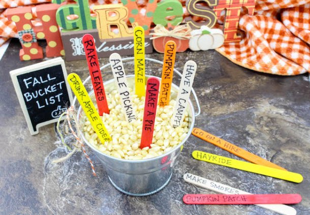 Thanksgiving Day is more than just turkey, dressing, and pumpkin pie. How about making a fun Fall Bucket List that everyone can join in on.