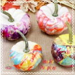 Nail Polish Marbled Pumpkins Craft