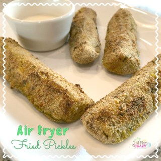 Since we don't have a Japanese Tempura recipe, we decided to share an Air Fryer Fried Pickles recipe. It's breaded and can be deep fried but we love our Air Fryer and would prefer to make it in there.