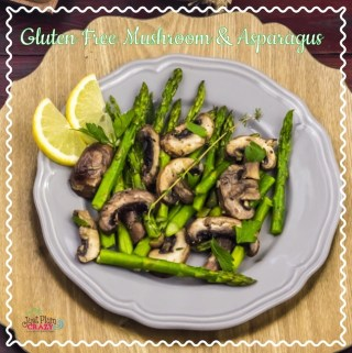 Gluten Free Skillet Mushroom and Asparagus with Lemon and Thyme Recipe