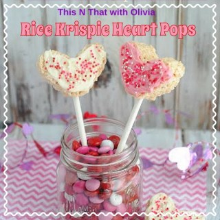 Welcome you to Day 3 of our 14 Days of Valentine's Day Treats and share this delicious recipe with you! Olivia has these delicious and super easy Rice Krispie Heart Pops recipe that are perfect for your kids and family.