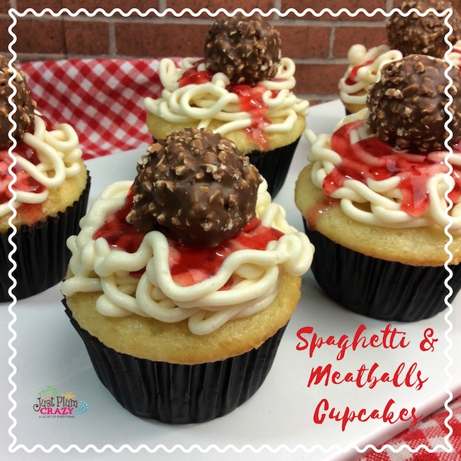 Spaghetti and Meatball Cupcake Recipe