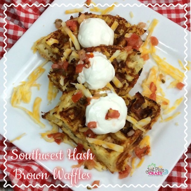 The Southwest Hash Brown Waffles recipe are a great way to take frozen hash browns or tater tots and make them into something fun. Use these waffles to make a breakfast sandwich or in place of your bun for a burger. Either way, you're going to love these!