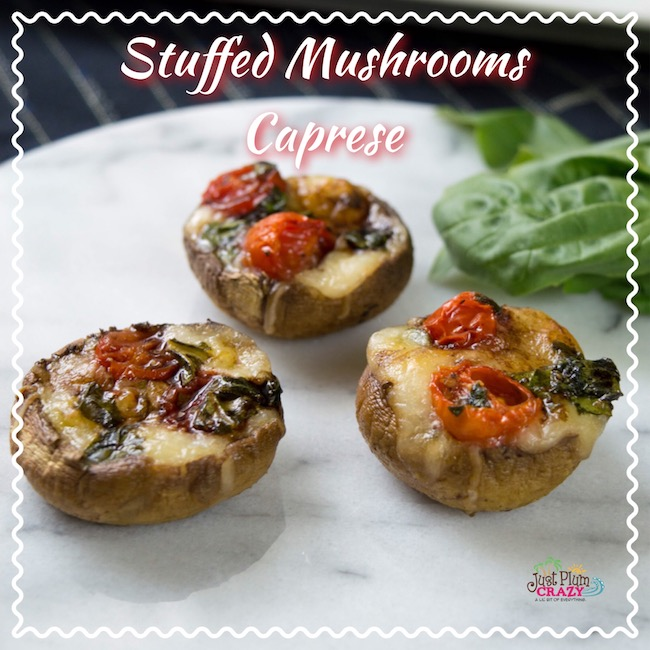 Stuffed Mushrooms Caprese Recipe