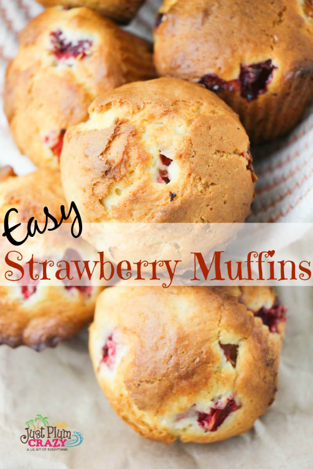 It's almost strawberry season here in the Northeast so I'm going to be sharing a few of my family's favorite strawberry recipes like this Easy Strawberry Muffins Recipe. That's one of the great things about traveling...I get to be in strawberry season from early March until late June.
